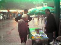 1998 Infostand am Eidelstedter Markt mit Uli Cremer